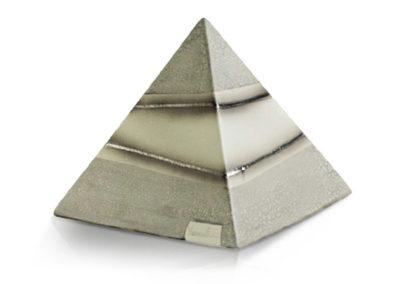 Urna a piramide in ceramica
