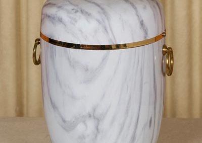 Urna marmorizzata bianca