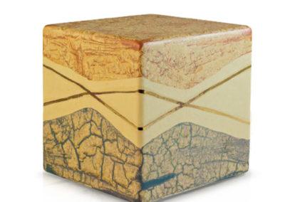 Urne in ceramica a cubo, marmorizzate